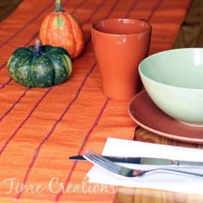 Fall Table Runner with Twine