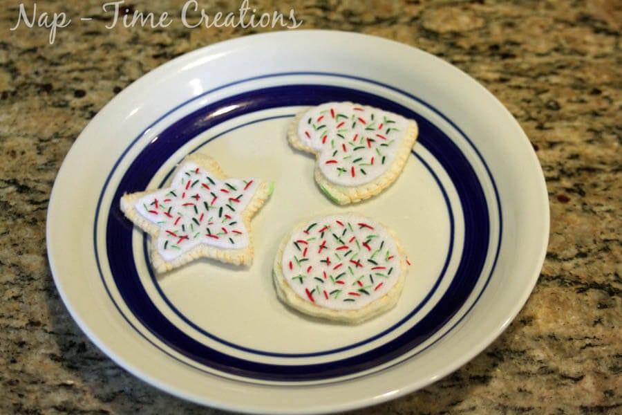 felt food cookies