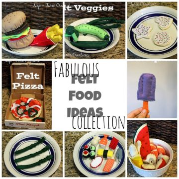 Felt Food ideas #feltfood on www.nap-timecreations.com