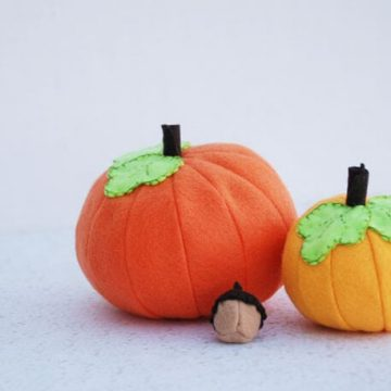 Felt Pumpkin Tutorial and Free Pattern #feltweek at Nap-Time Creations