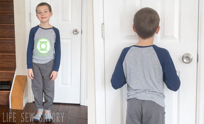 free raglan shirt pattern with graphic