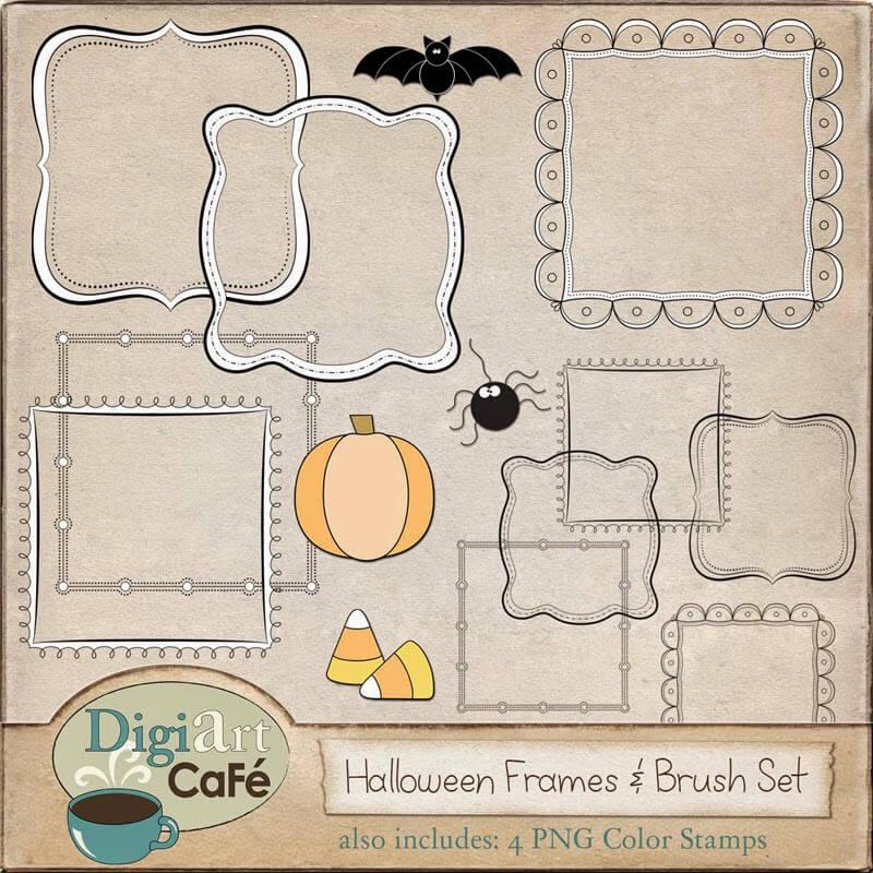 halloweenframes&brushsetpkg800_FREEBIE