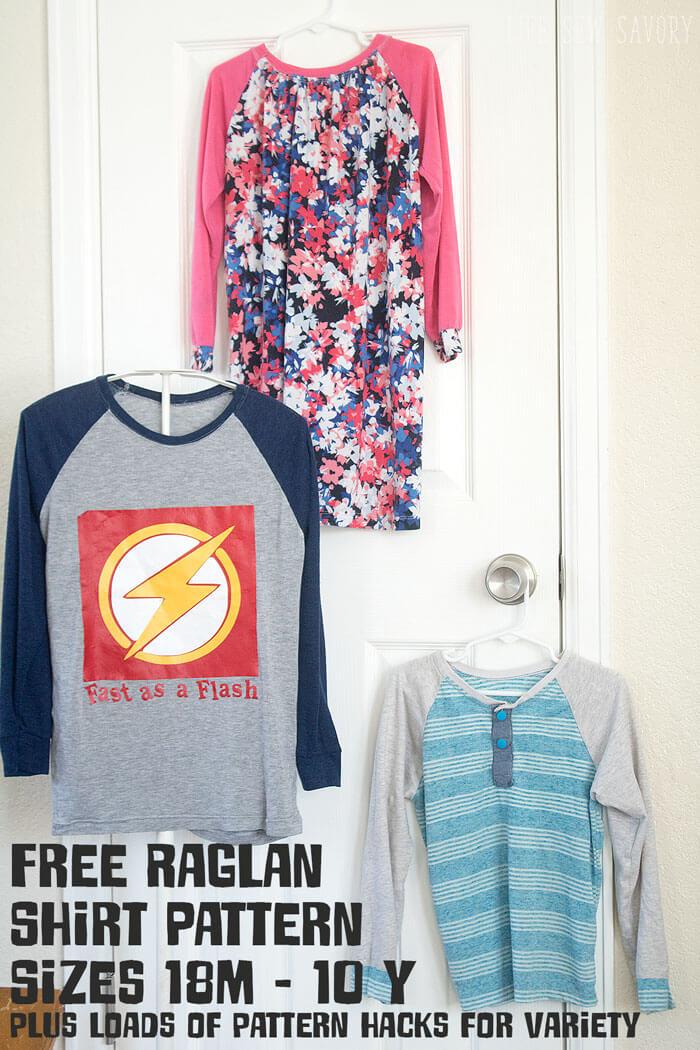9130eb62f Free Raglan Shirt Pattern Kids