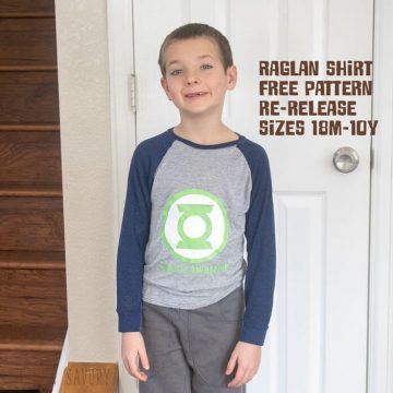 raglan shirt free pattern for kids