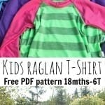 Free Raglan Shirt pattern on Nap-Time Creations.com #sewingpattern #freesewingpattern #sewingforkids