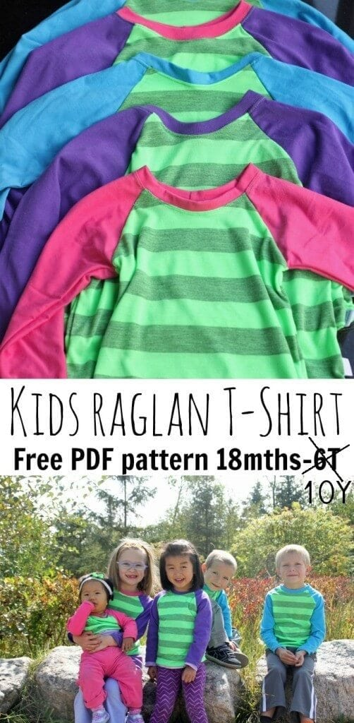 Raglan sleeve kids free sewing pattern from Life Sew Savory