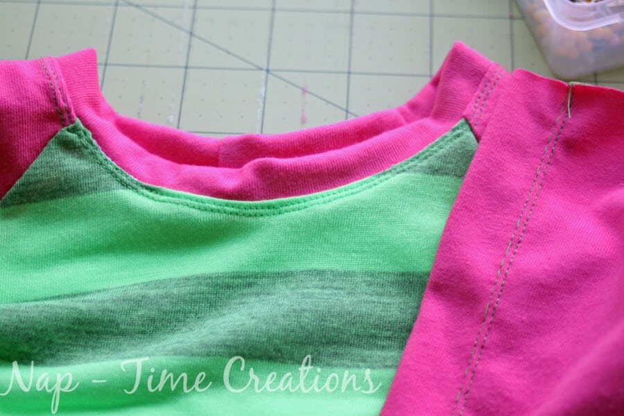Twin needle top-stitching