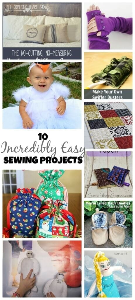 10 Incredibly Easy Sewing Projects