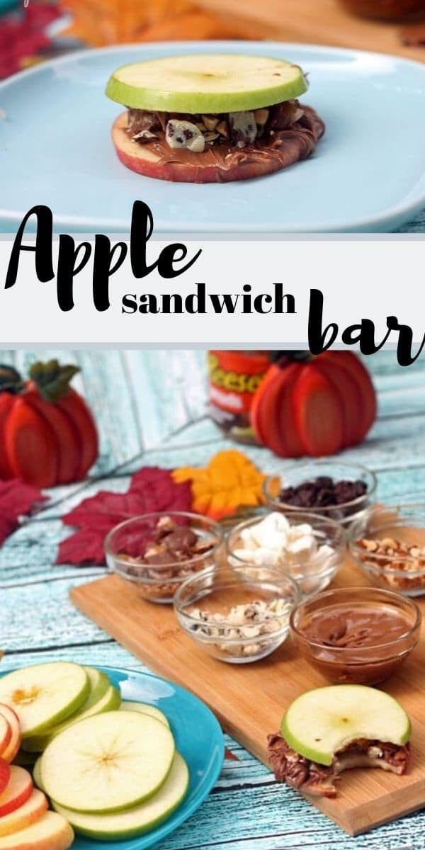 apple sandwich bar the perfect fall snack from Life Sew Savory
