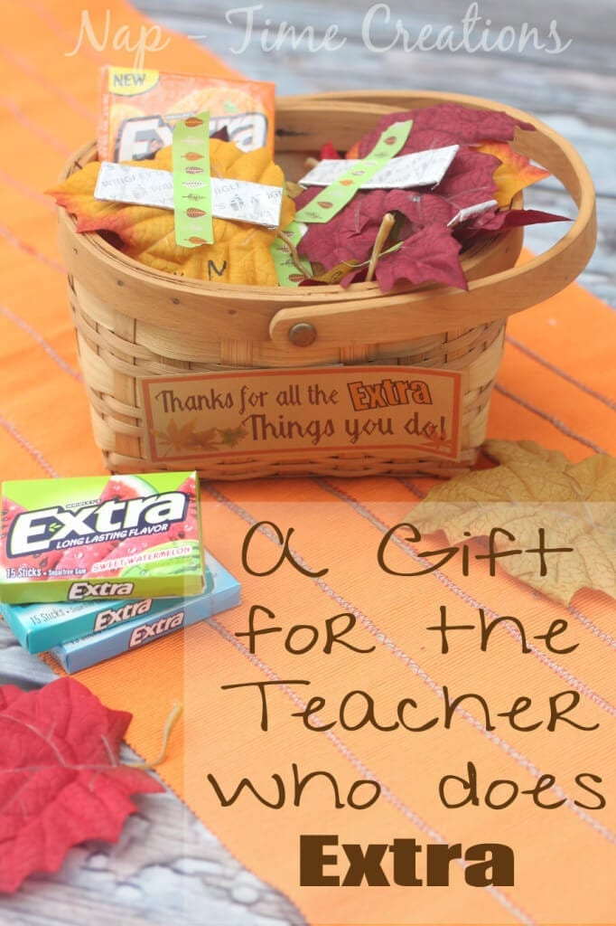 Thanksgiving Teacher Gift basket idea from Life Sew Savory