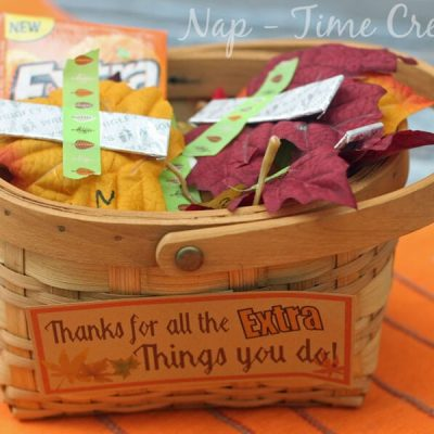 Thanksgiving Teacher Gift – for the one that gives Extra