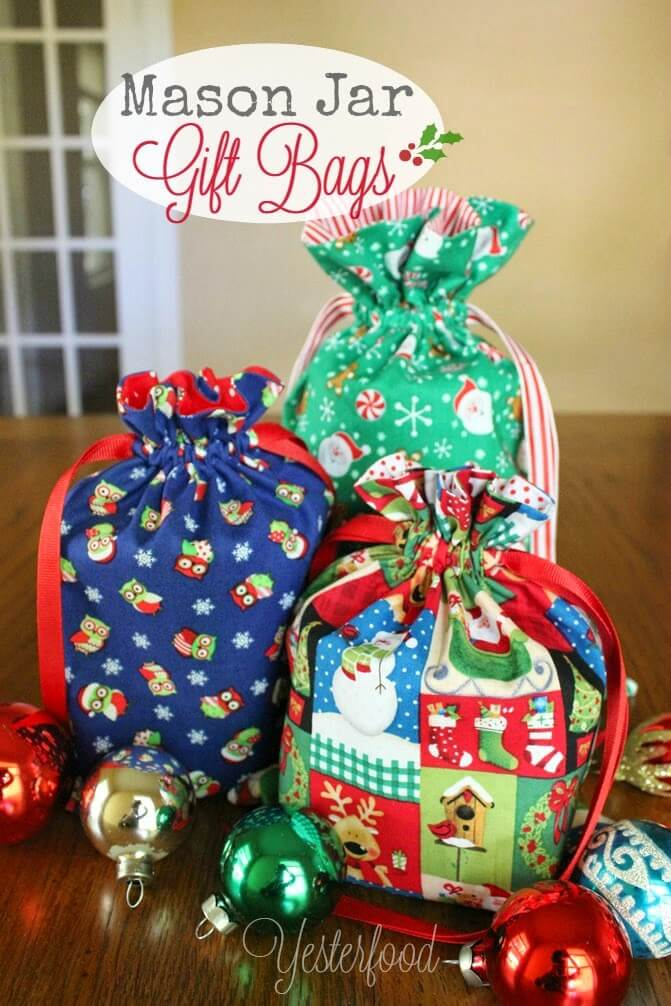 Mason Jar Gift Bags by Yesterfood