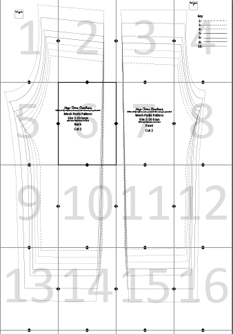 Mesh Pants pattern layout