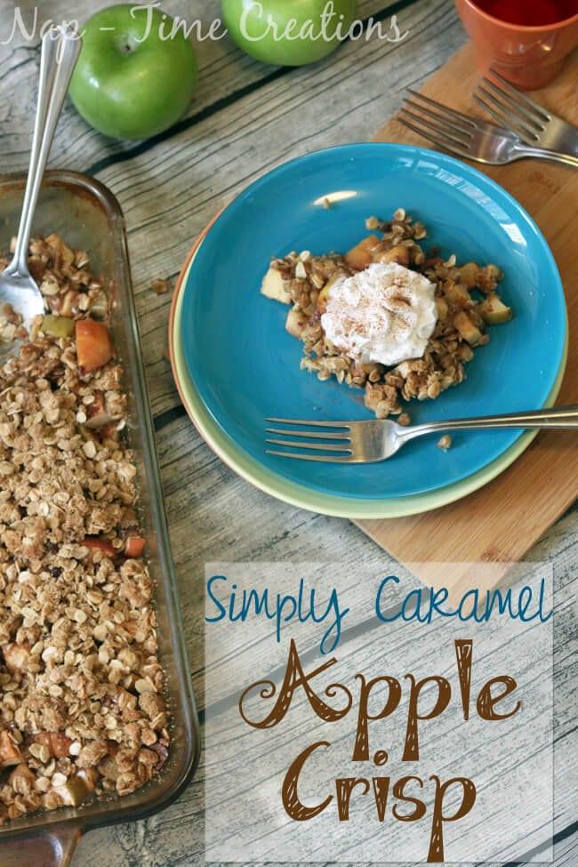 caramel apple crisp. fall Baking, apples, caramel, amazing on Nap-Time Creations