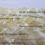 Five Ways to Gather Fabric