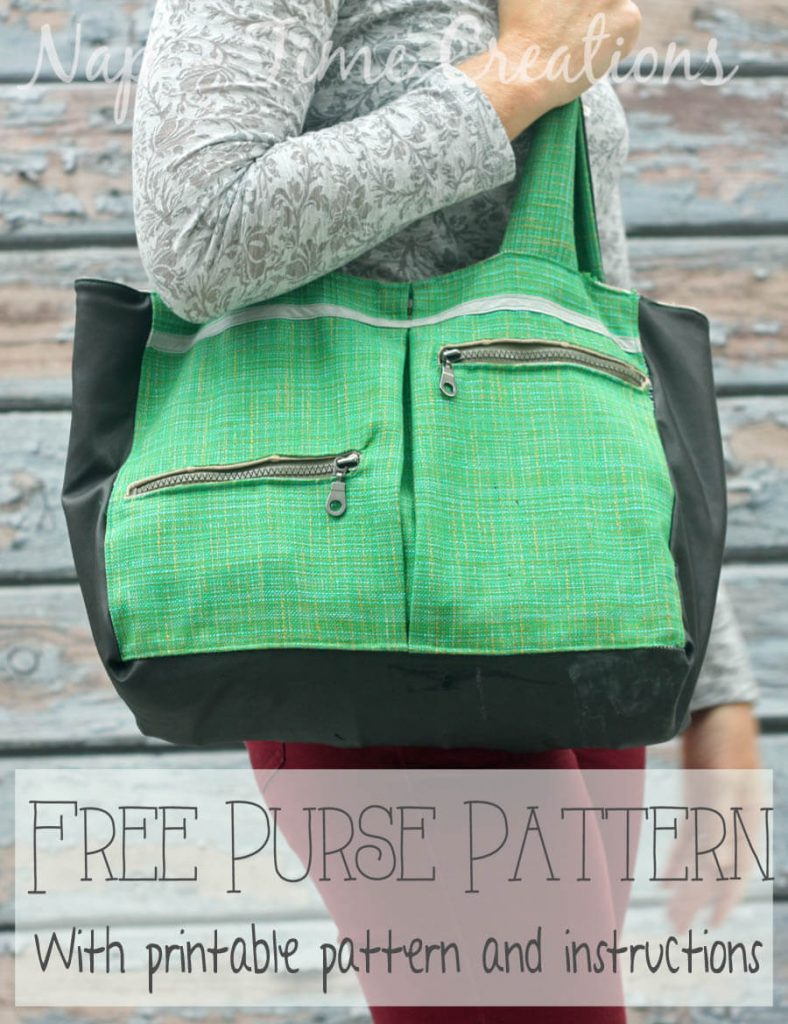 Free Purse Pattern with pockets on Nap-Time Creations