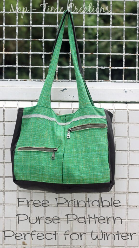 free purse pattern with zippers and pockets on Nap-Time Creations