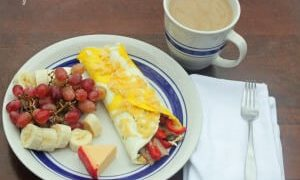 Holiday Omelette with Arla Dofino Cheese