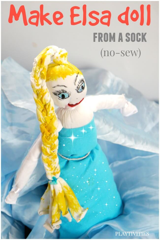 make-elsa-doll-from-a-sock