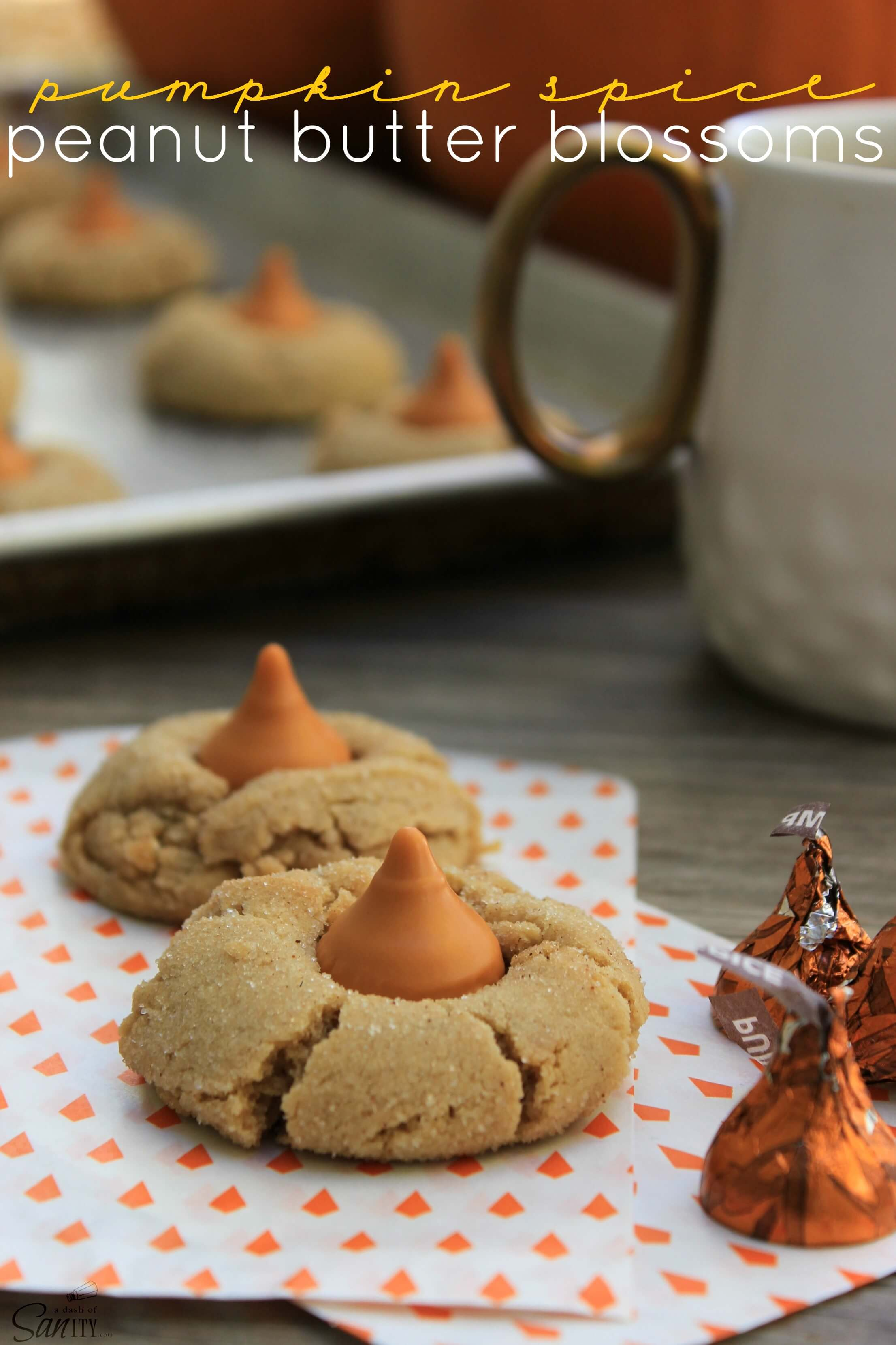 Pumpkin Spice Peanut Butter Blossom s- A Dash of Sanity / Apple ...