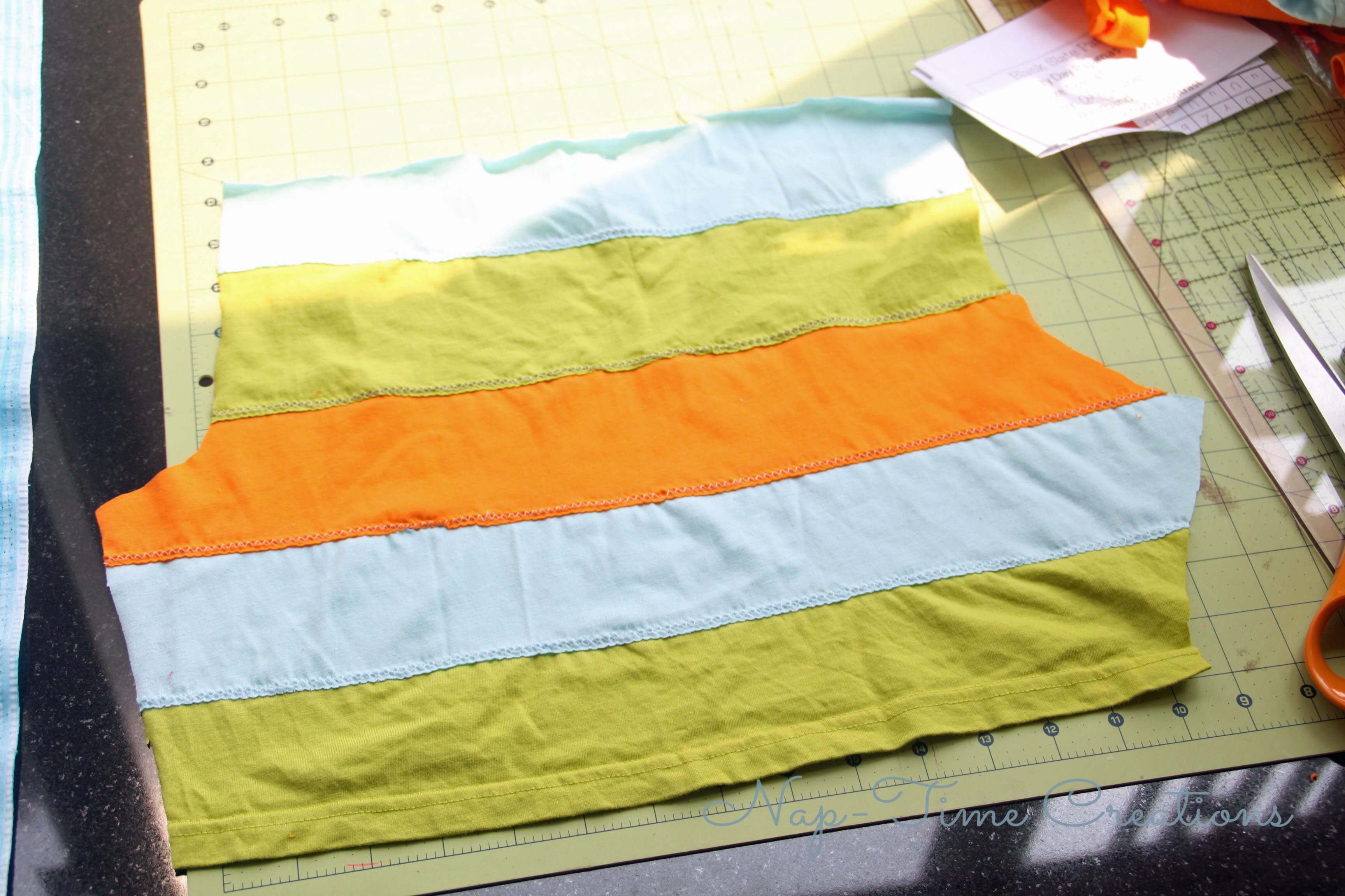 DIY stripped fabric tutorial