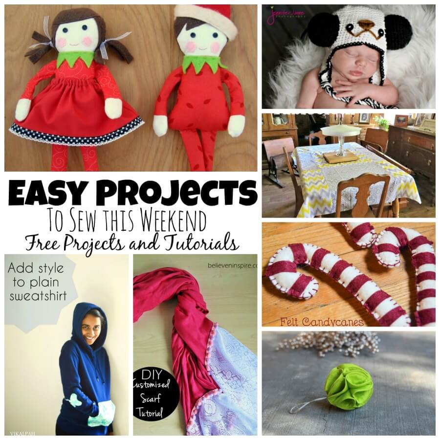 sew this weekend these cute and easy projects. Each include free patterns and tutorials to get you started and creating now!
