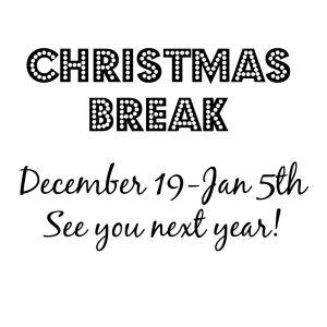 Christmas Vacation!!