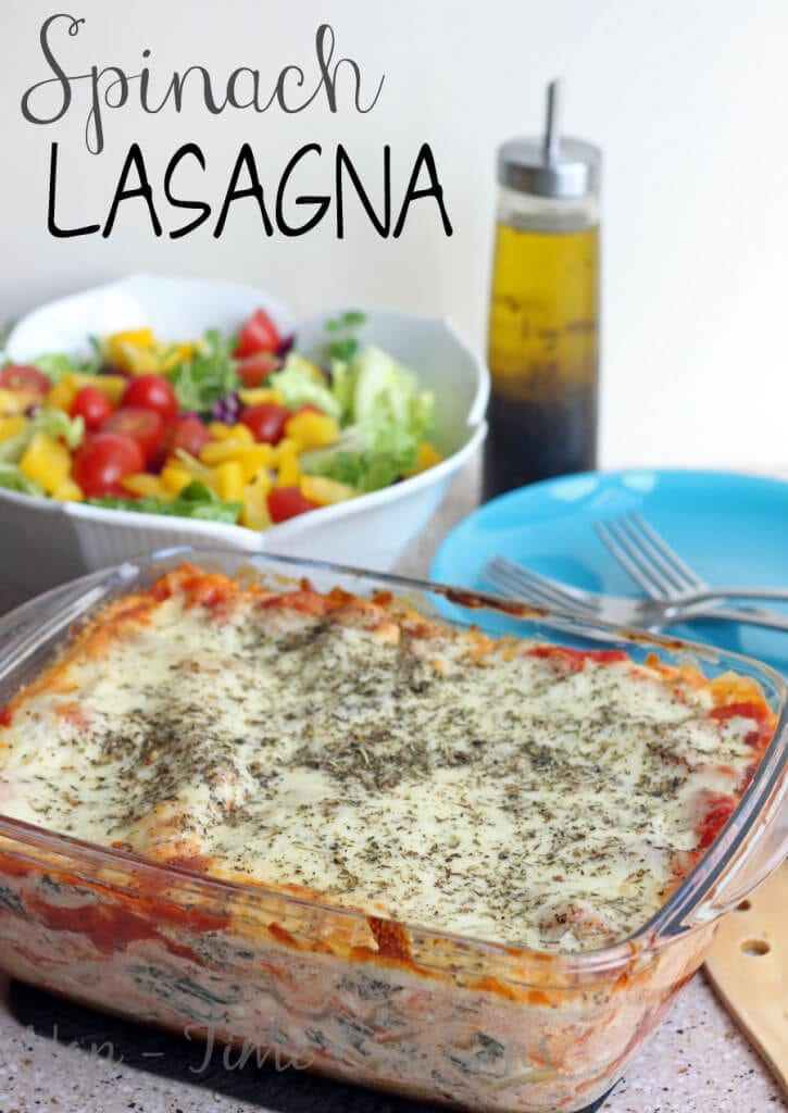 Vegetarian Spinach Lasagna Recipe on Nap-Time Creations
