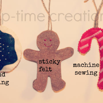 felt cookie garland