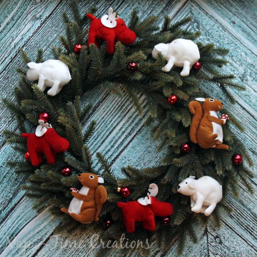 Woodland Animals Christmas Wreath