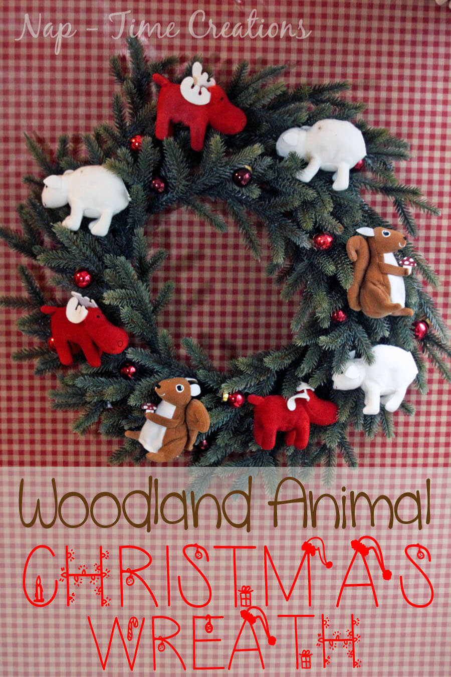 Woodland Animal Christmas Wreath