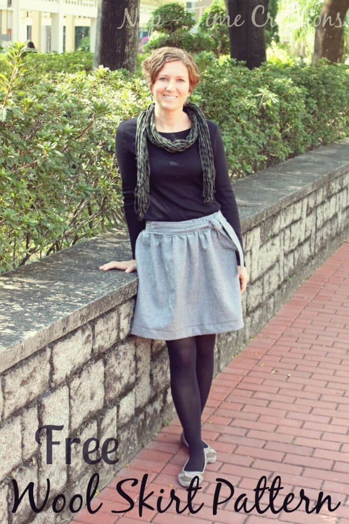 wool skirt pattern and tutorial. Great to wear for winter. Found on Nap-Time Creations.com