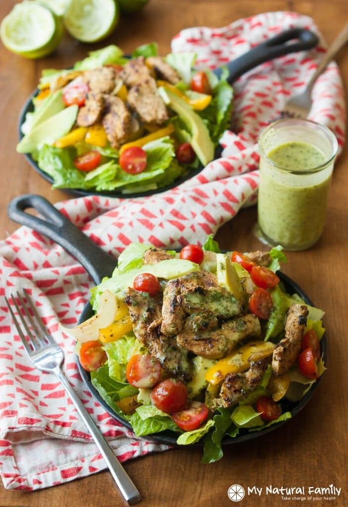 Cilantro-Lime-Fajita-Salad-2