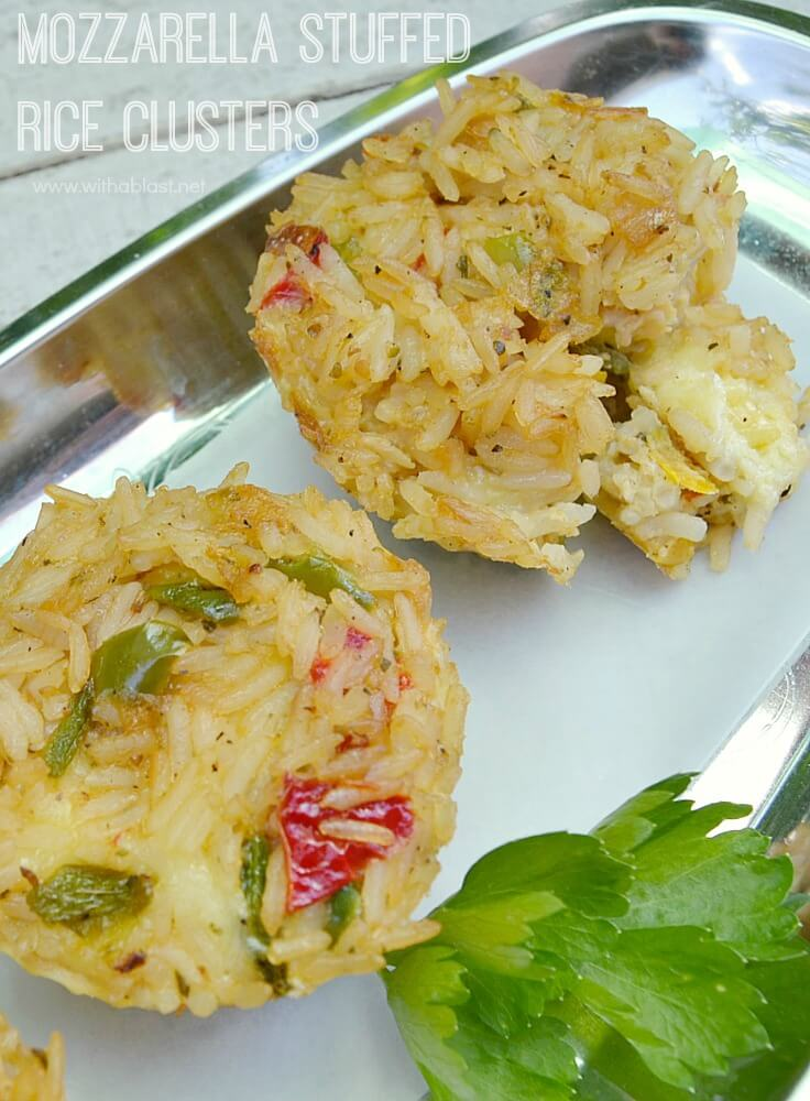 Mozzarella Stuffed Rice Clusters-P