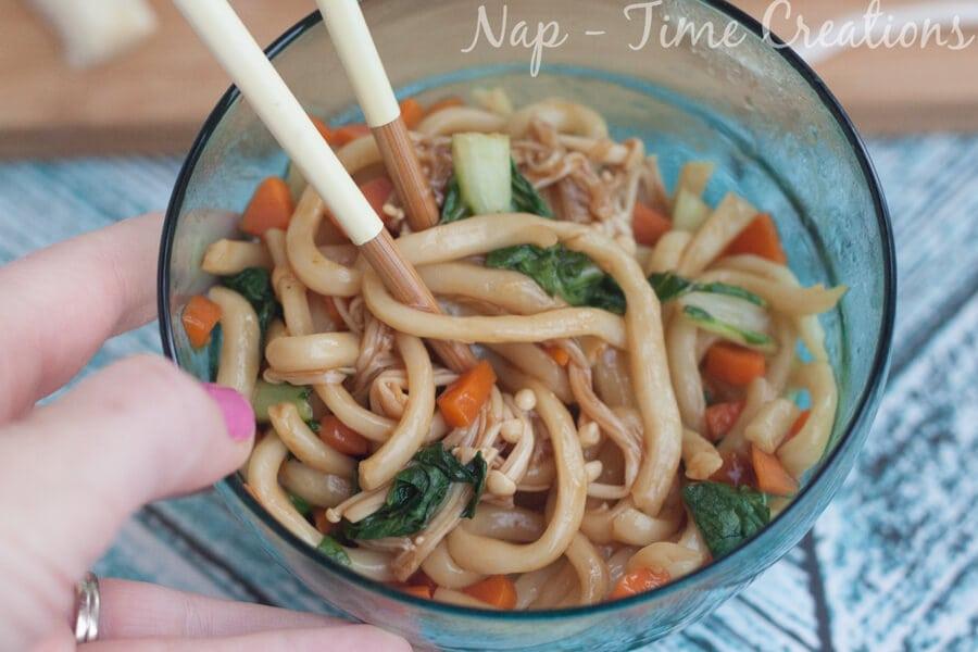Udon Noodles Dinner