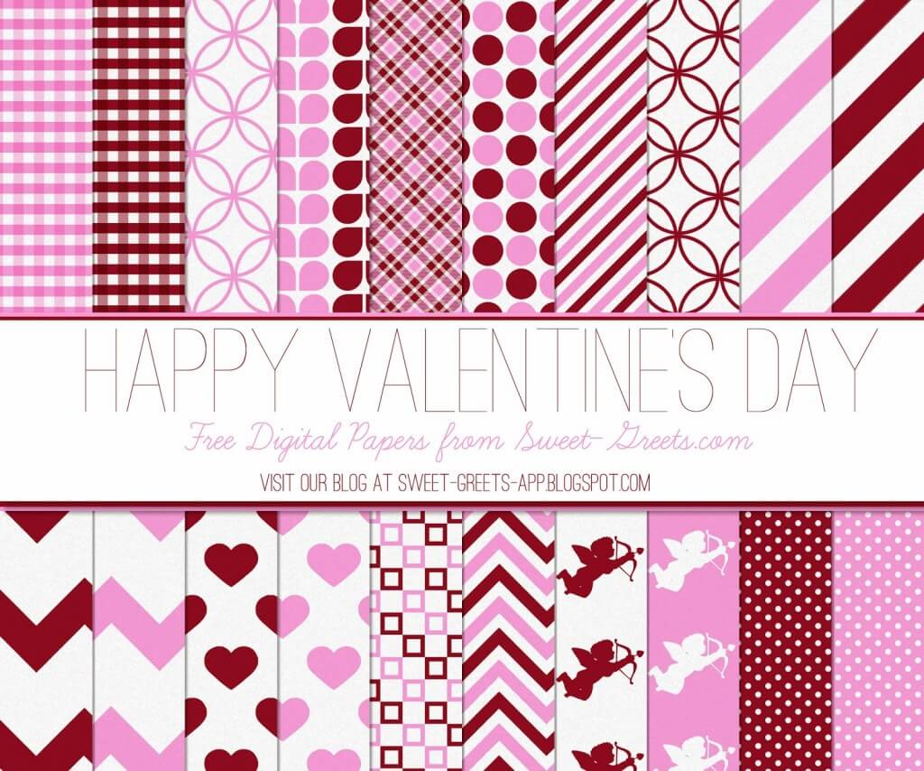 Valentine's Day Digital Paper Set