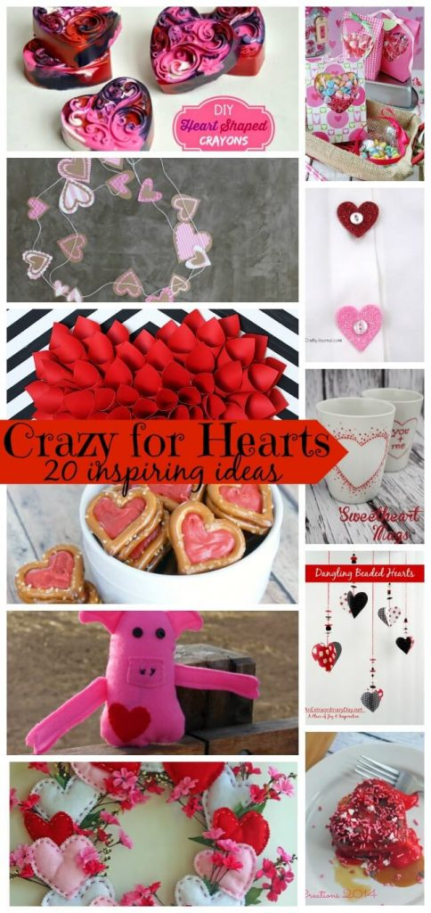 crazy for hearts - a round up of features from the Create Link Inspire party - Valentines Heart projects from Nap-Time Creations