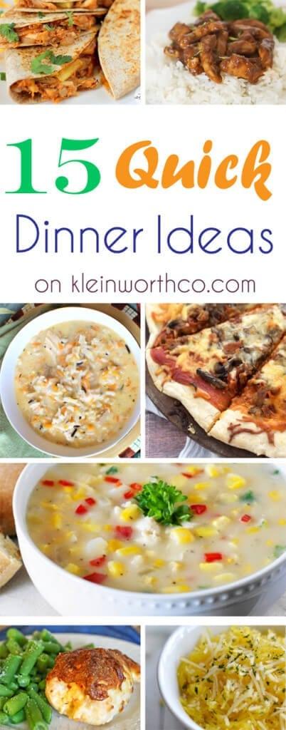 15 Quick Dinner Ideas 500