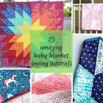 best baby blanket sewing tutorials