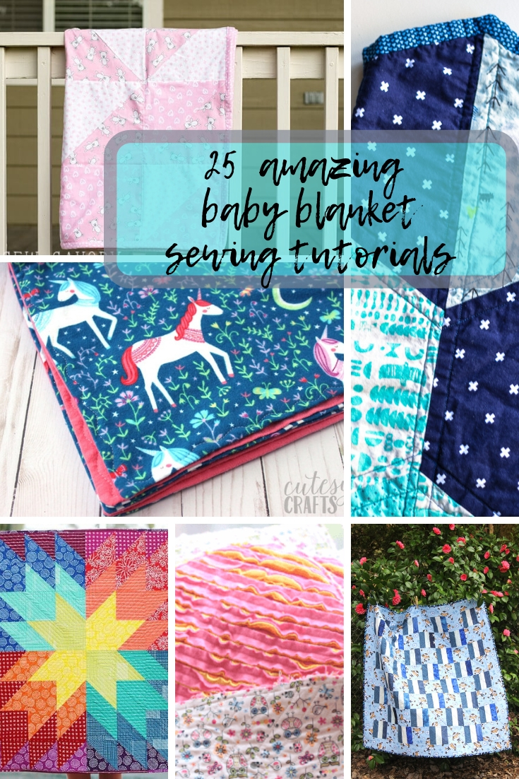 best baby blanket sewing tutorials from Life Sew Savory