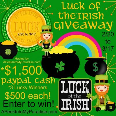Luck Of the Irish Giveaway {CLOSED}