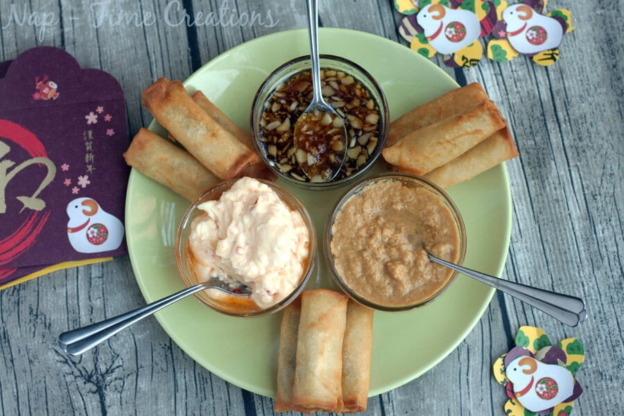 Asian Style Dips for Chinese New Year #NewYearFortune #Ad on Nap-Time Creations5