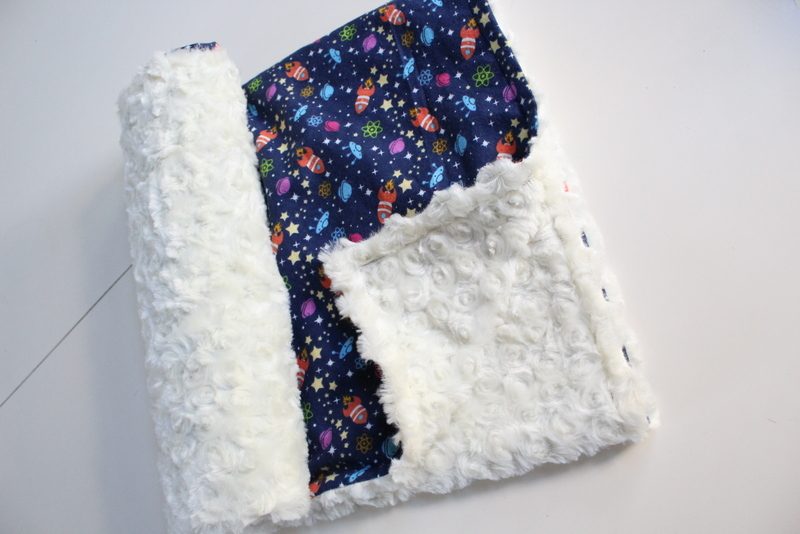 Minky baby blanket sewing tutorial