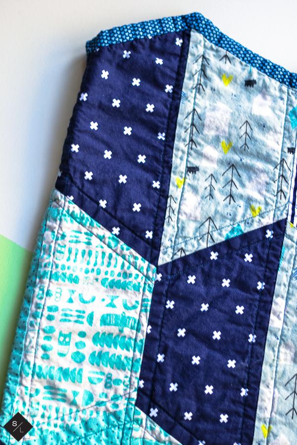 half hexi quilt pattern