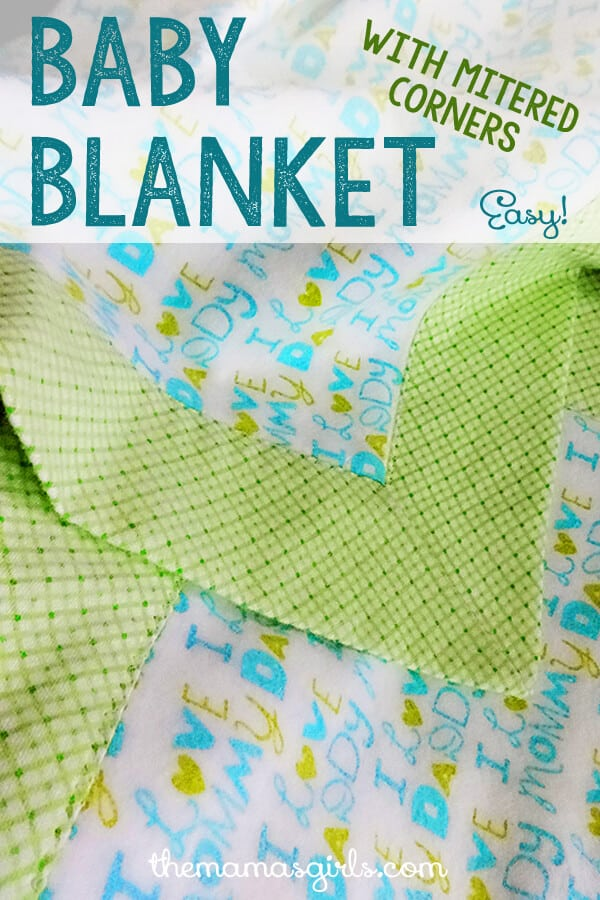 Baby-Blanket-with-Mitered-Corners-So-Easy