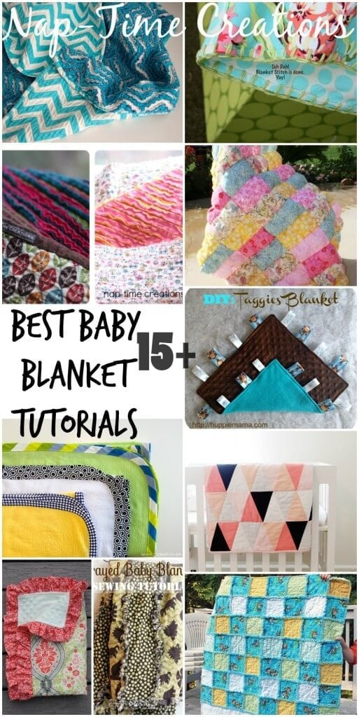 Best Baby Blanket Sewing Tutorials from Nap-Time Creations