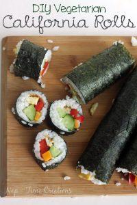 DIY Vegetarian California Rolls