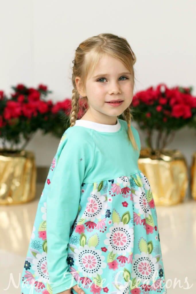Raglan shirt dress