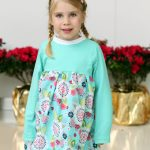 Raglan Dress tutorial from a free pattern