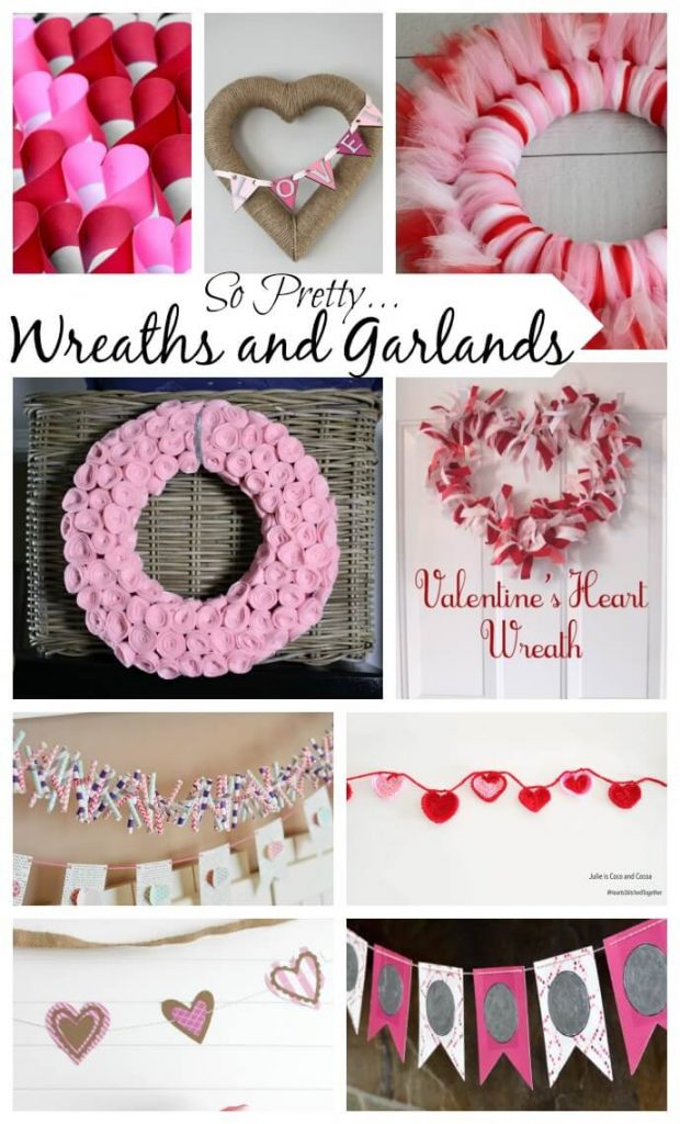 Valentine Wreaths and Garlands